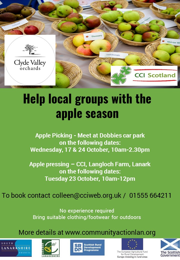 Help local groups with the apple season