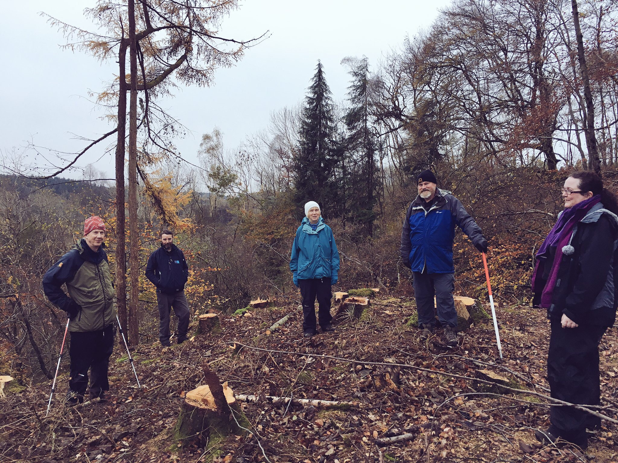CAVLP Heritage help discover the ancient landscape of Cadzow earlier in the year