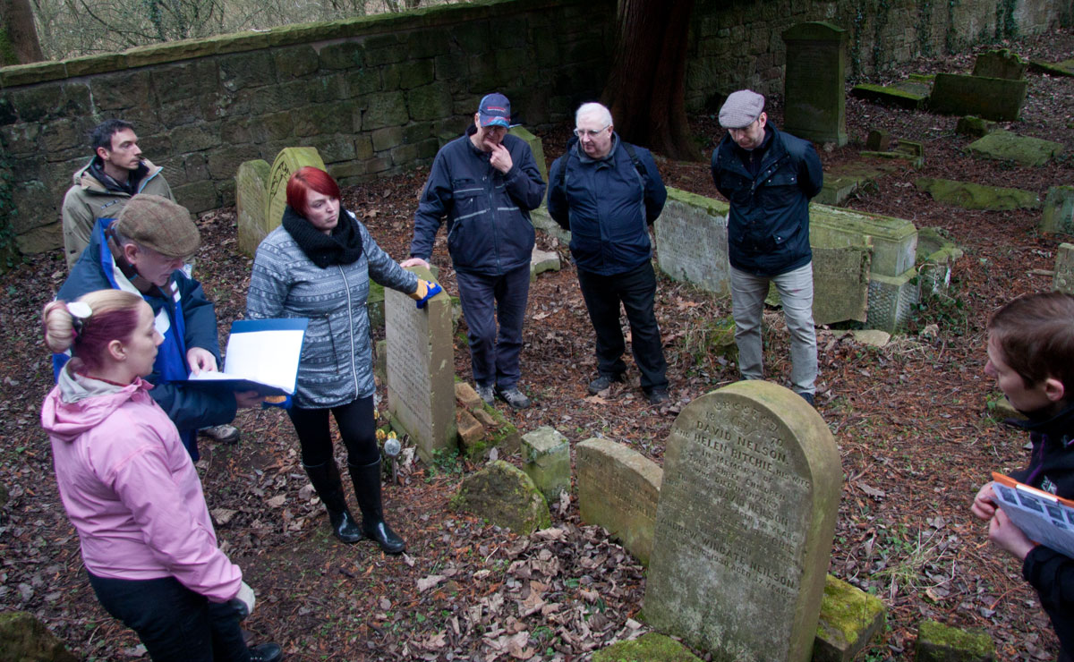 Join experts on site at New Lanark Burial Ground, St Patrick's Churchyard within Dalzell Estate, St Michael's Churchyard at Cambusnethan and St Ninian's Churchyard in Stonehouse.