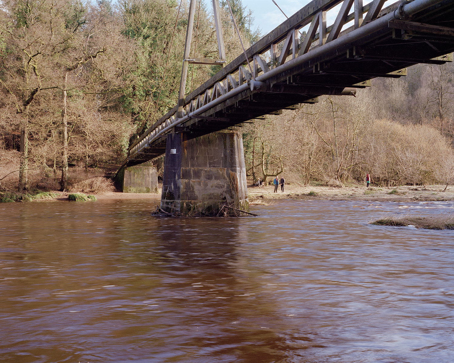 The Green Bridge, Chatelherault Country Park, is easily accessible via the Fairholm route from Larkhall, and connects with the National Cycle Route 74