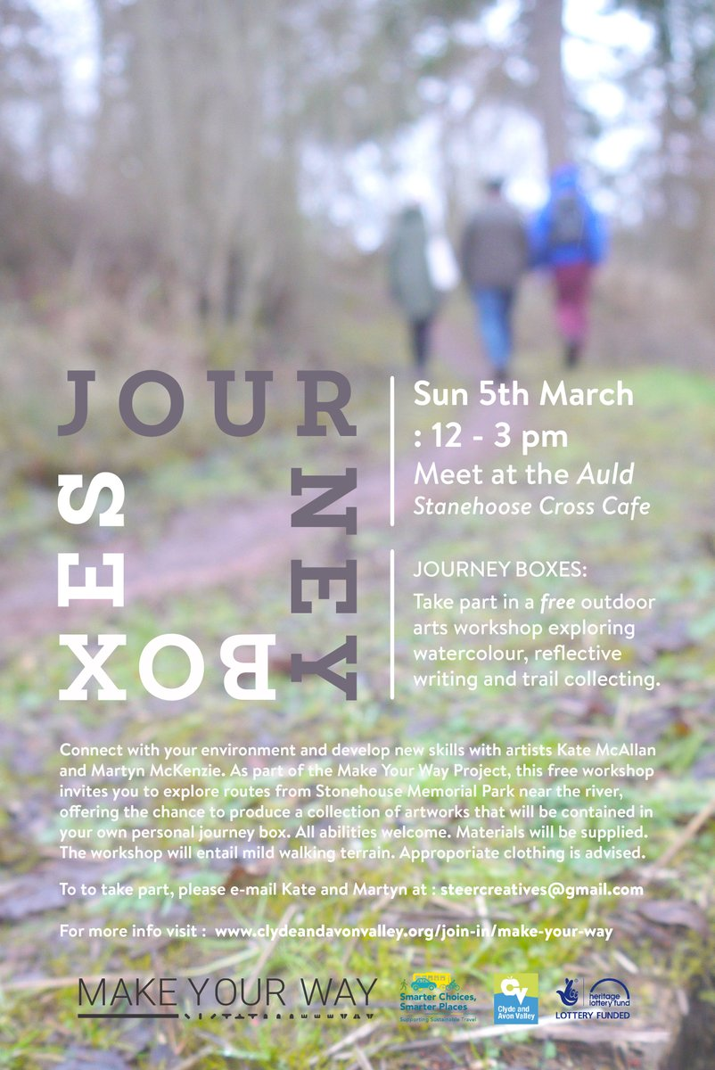Journey Boxes, Make Your Way workshop in Stonehouse