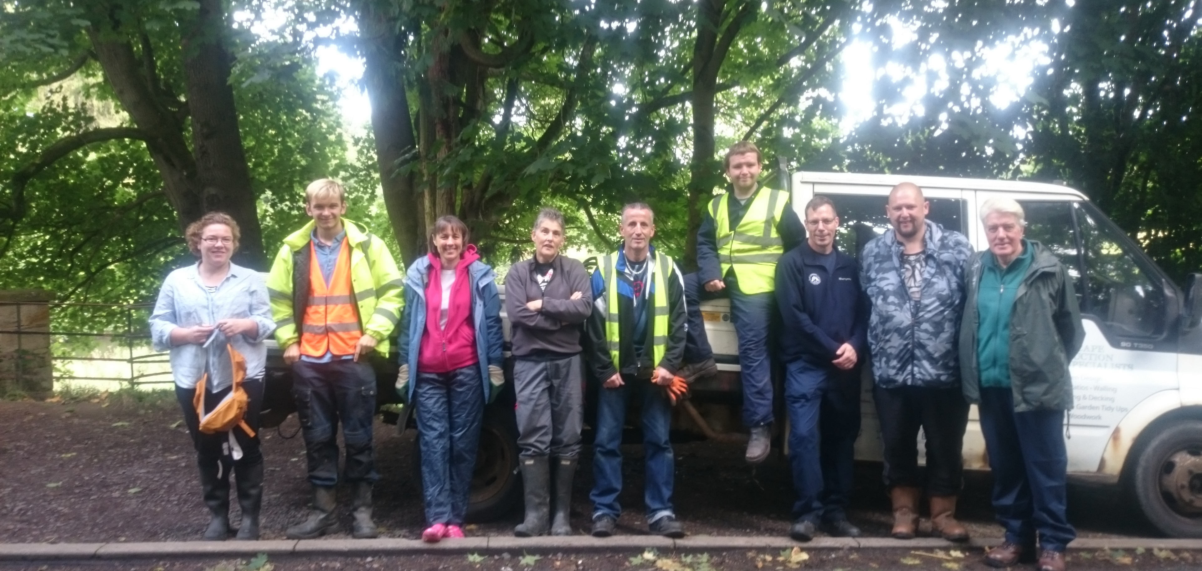The Mauldslie Woods volunteer group meet on the first Thursday of every month