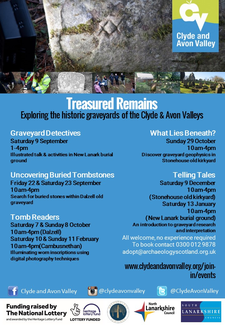 Treasured Remains graveyard volunteer workshops, Clyde and Avon Valley