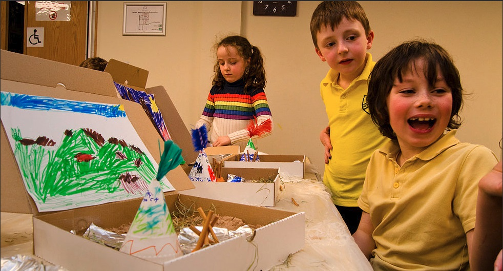 Children enjoy the FREE creative Castaway sessions