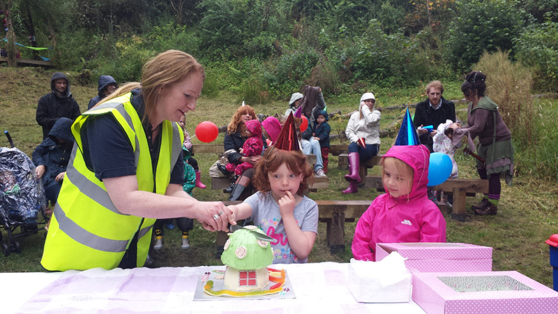 Clearburn Natural Play and Picnic Area celebrates its first birthday in style