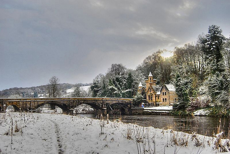 Mauldslie Bridge in winter. Image courtesy of Aileen McCaskill