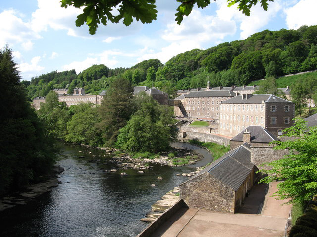 View Of New Lanark from Falls of Clyde Nature Reserve