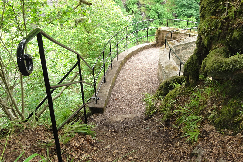 The historic Corra Linn viewpoint on Corehouse Estate, restored in 2015