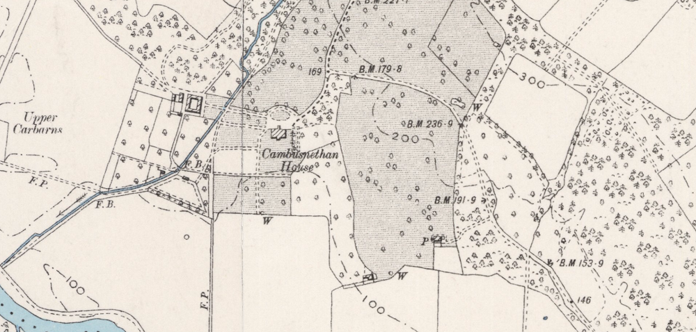 Cambusnthan on the OS map of 1898