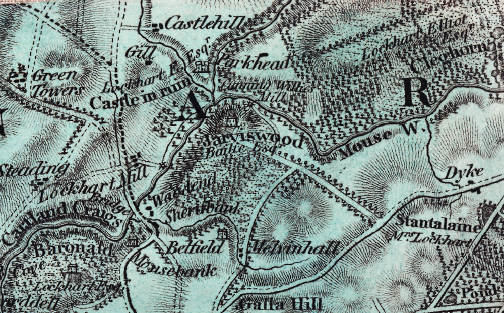 Jerviswood on the 1816 Forrest map