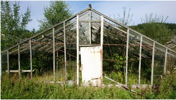 Abandoned Glasshouse at Underbank, demolished January 2017