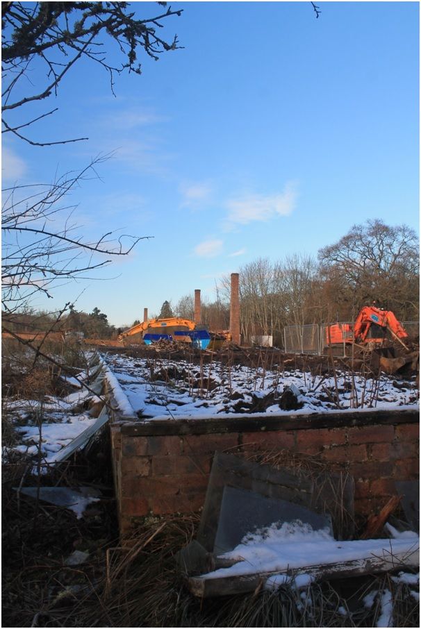 The diggers move in, Underbank, Crossford, January 2017