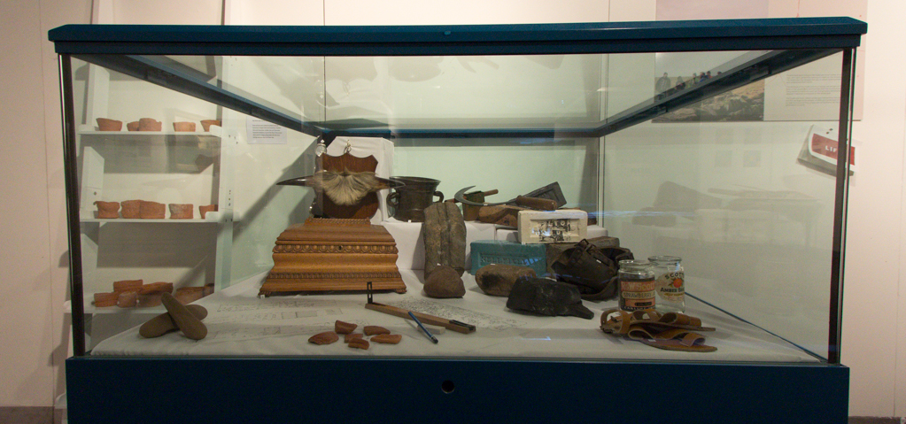 Cabinet of Various Clyde & Avon Artefacts