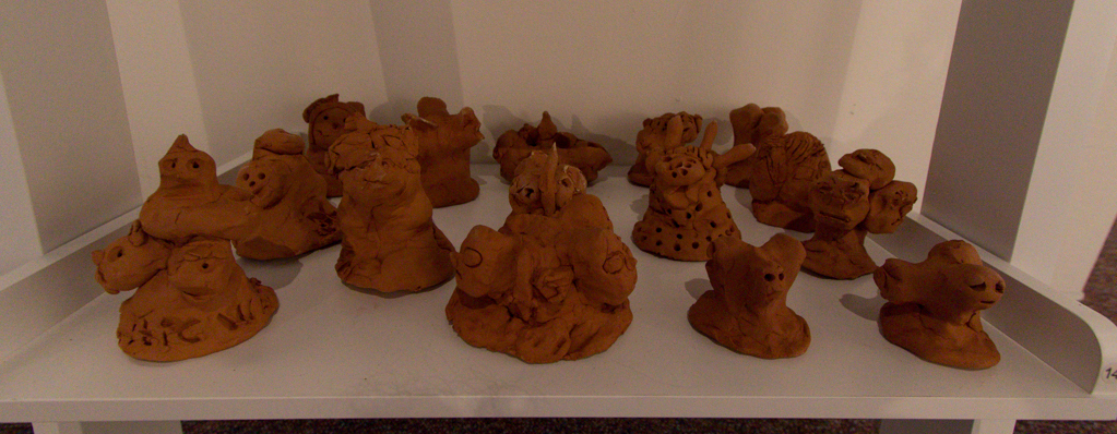 Three-headed Celtic Head Statues - Clay Reproductions