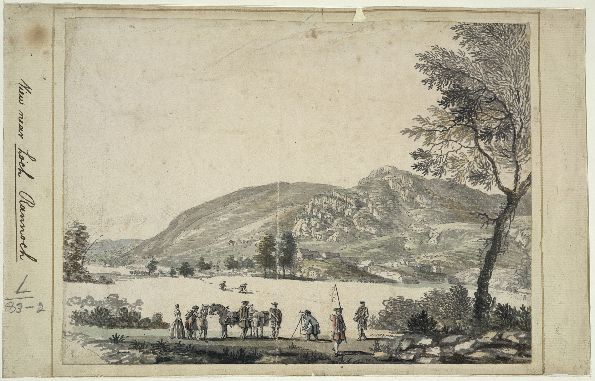 Paul Sandby, View Near Loch Rannoch, 1749. Reproduced with permission of The British Library
