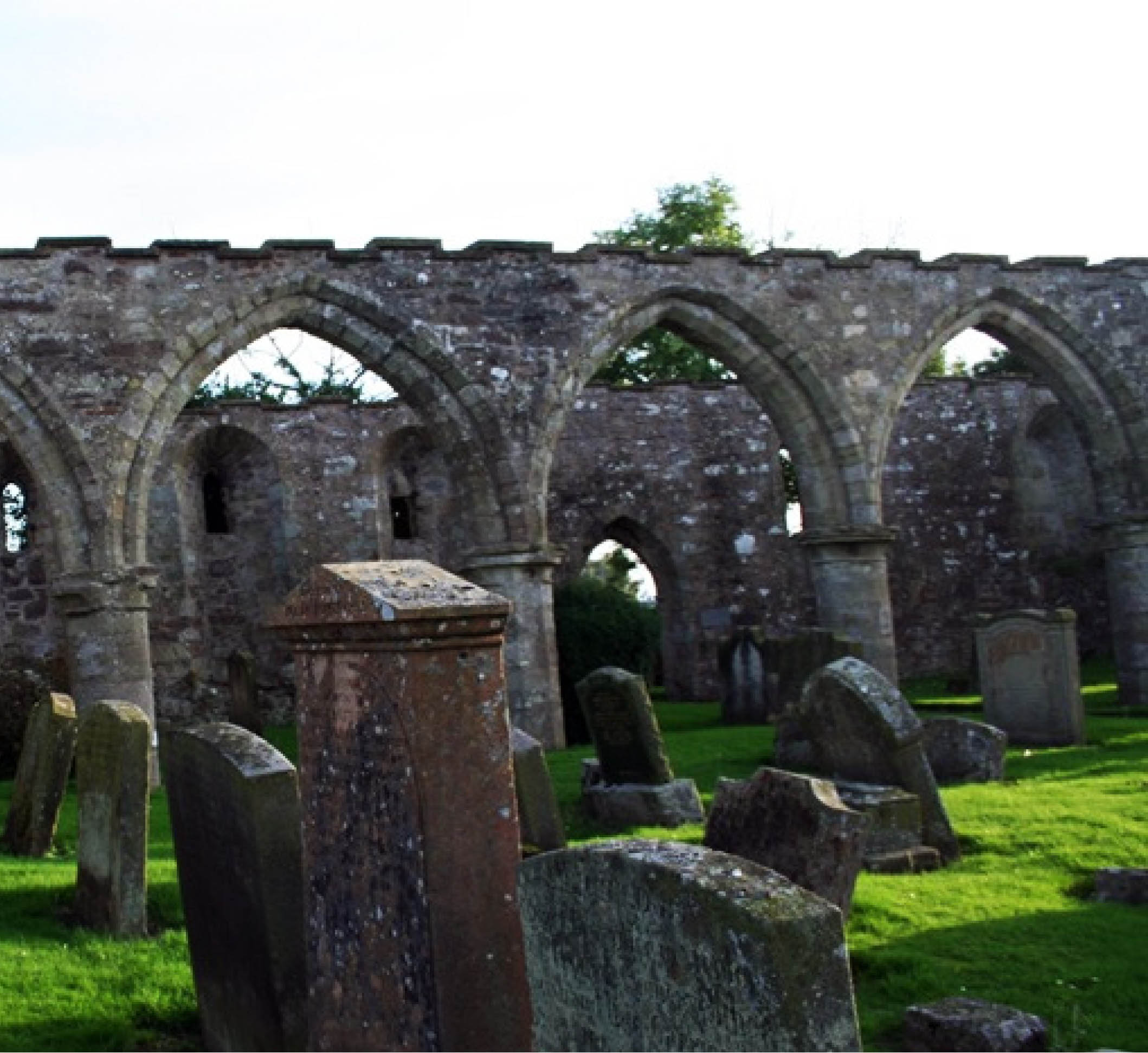 The Medieval ruins of St. Kentigern's Church  in Lanark