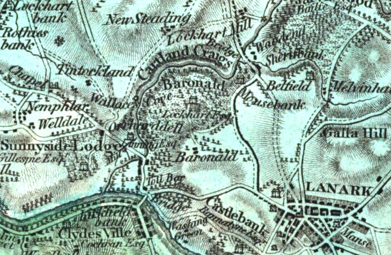 William Forrest map, 'The County of Lanark' from actual survey, 1816