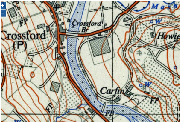 Ordnance Survey 1;25000 Lanarkshire NS84, 1956