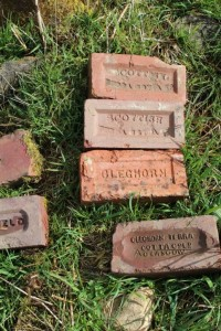 Bricks found at Cleghorn