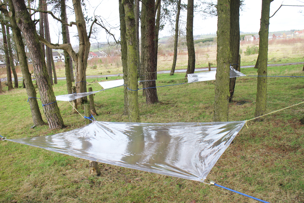 Step 2. Set up the clear tarps