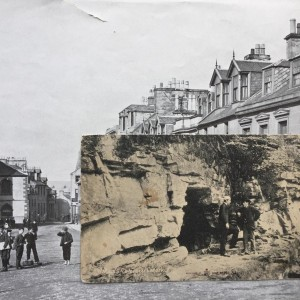 Historic Hight Street, Lanark, and Wallace's Cave photo collage. Copyright Daniele Sambo