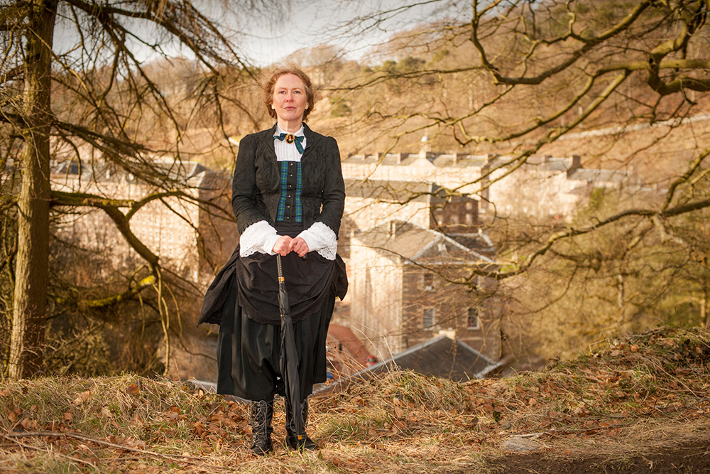 Let Lady Geraldine Lockhart Ross guide you round the Historic Falls of Clyde trail