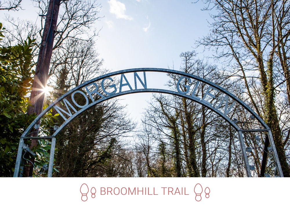 4. Continue to the entrance of Morgan Glen. Instead of going through Morgan Glen, take a left up the hill towards the Braes.