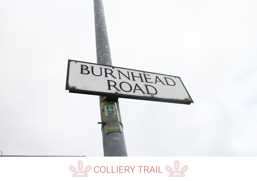 3. Take a left along Burnhead Road, passing Larkhall Golf Club on your right, go towards the Machan area.