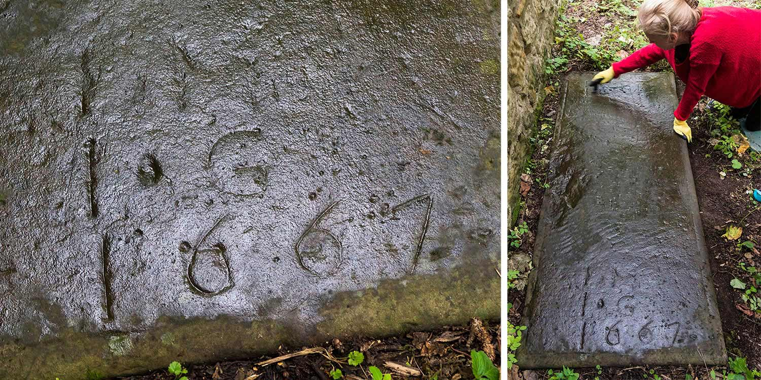Buried Stones Revealed at St Patrick's Churchyard, Dalzell Estate