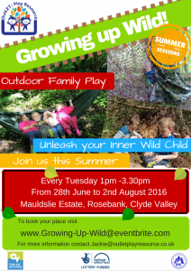 Growing Up Wild - Summer Tuesdays - 12 July