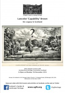 Lecture: Lancelot 'Capability' Brown - his legacy in Scotland