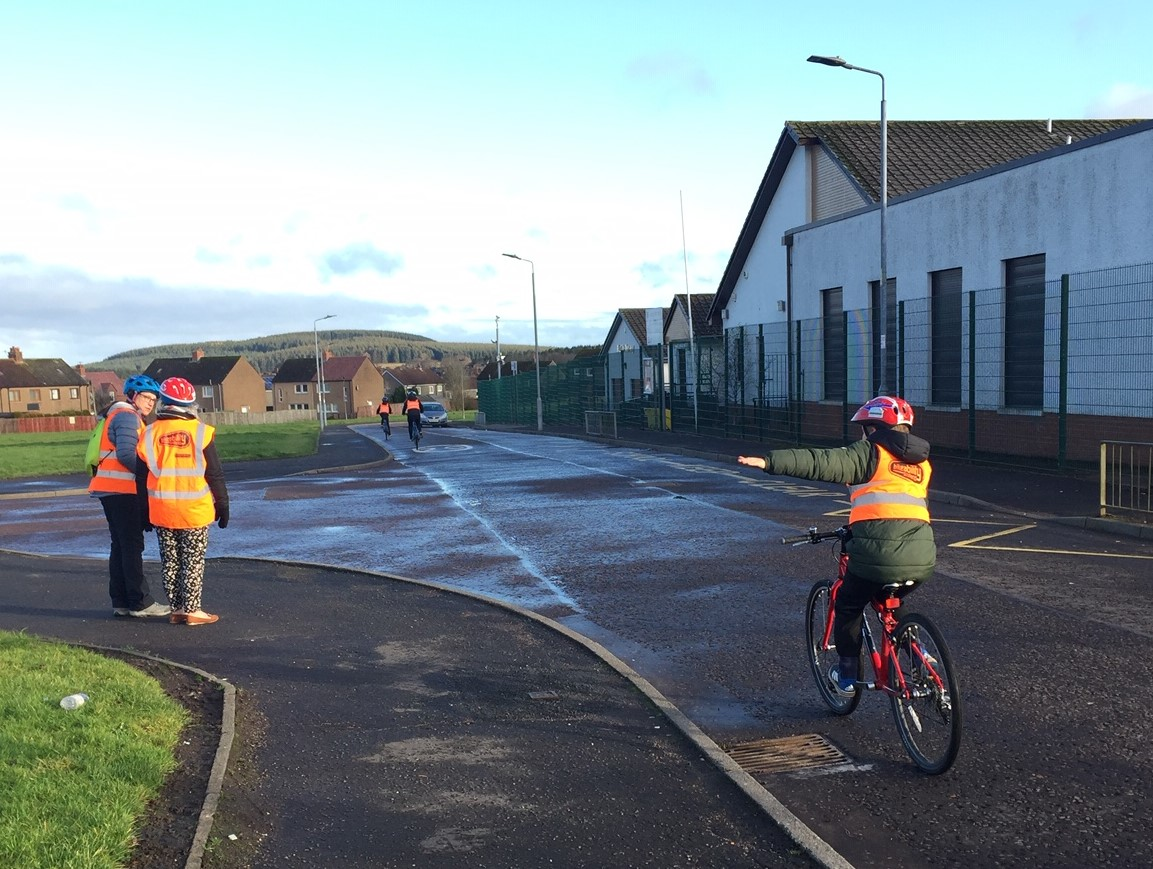 Clydesdale schools 'wheely' happy with cycling project!